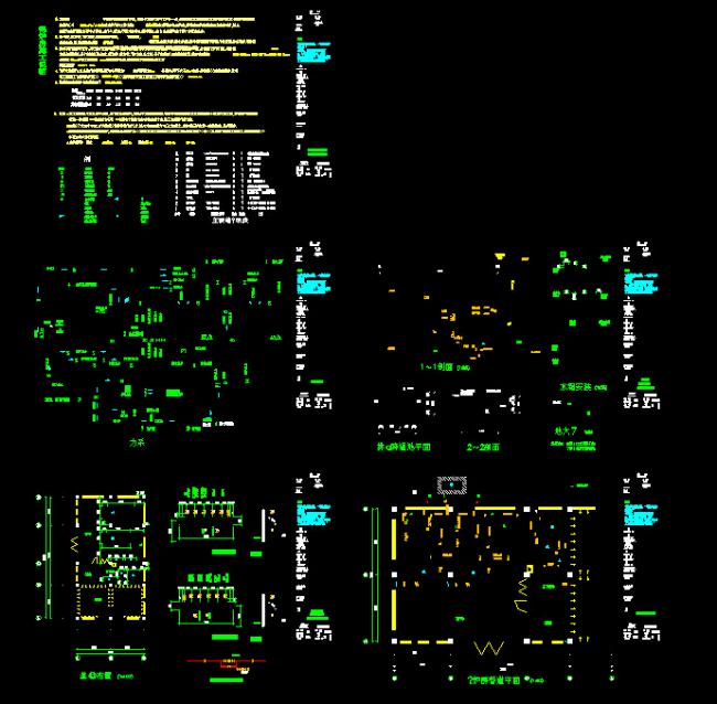 【dwg】某燃气锅炉房管道平面设计图cad图纸