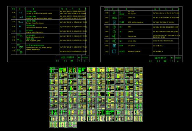 建筑电气工程设计图形和文字符号cad图纸