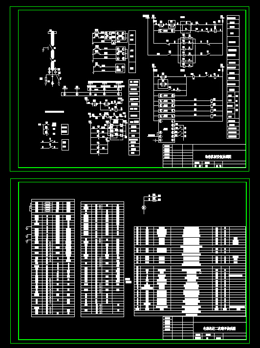 电机控制柜接线原理图cad图纸