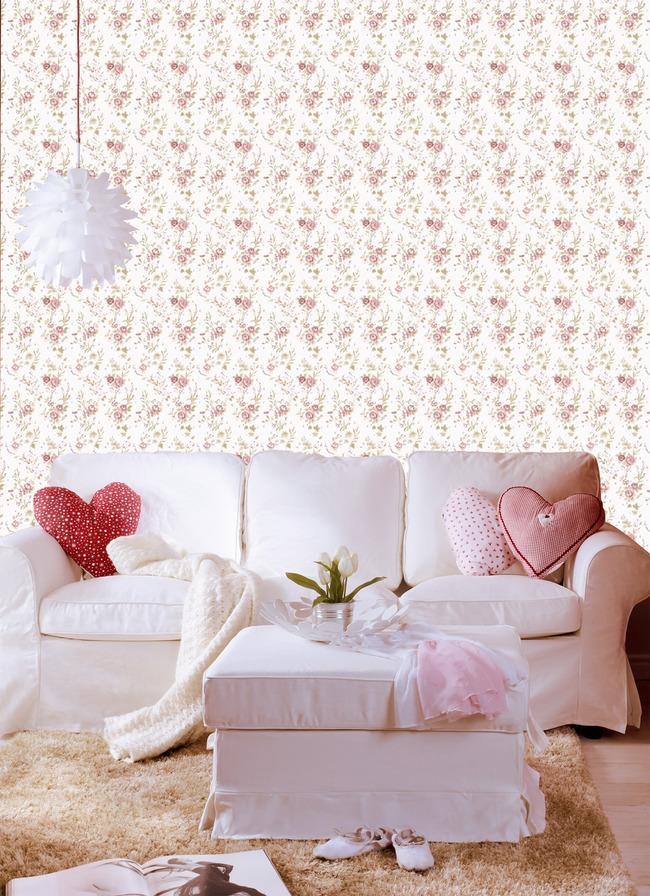 小清新墙纸欧式花型