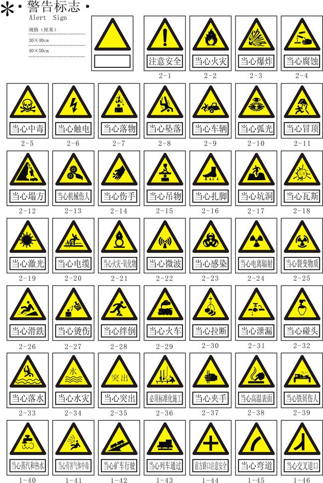 【】警告标志矢量图国标厂区5s