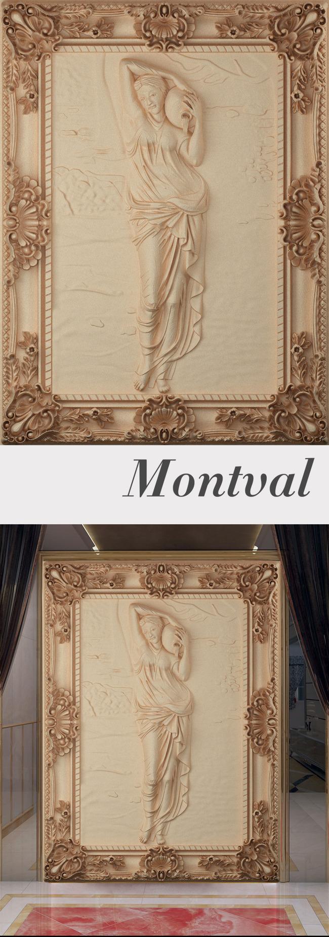 【tif不分层】欧式浮雕玄关壁画背景墙