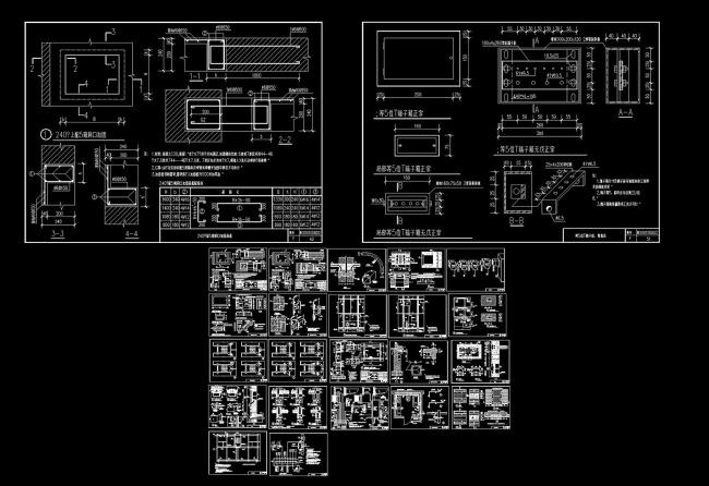 【dwg】电表箱安装等电位连接及管线安装cad图纸