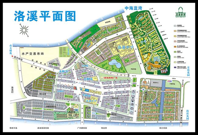 【cdr】洛溪新城地图