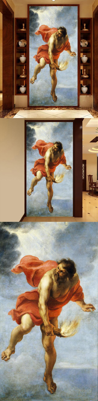 高清手绘欧式古典写实神话人物油画