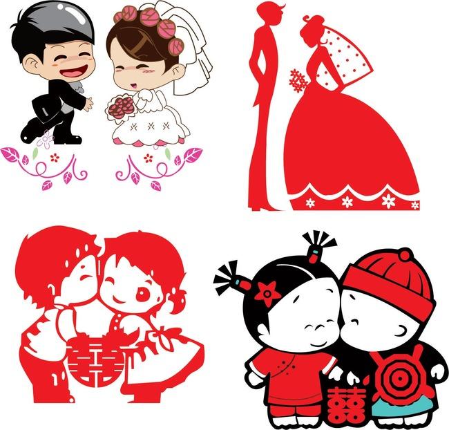 【ai】卡通新郎新娘