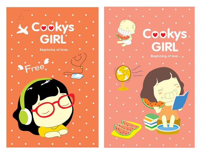 封面设计 笔记本 笔记本设计 日韩笔记本 日韩本本 日韩卡通 可爱卡通