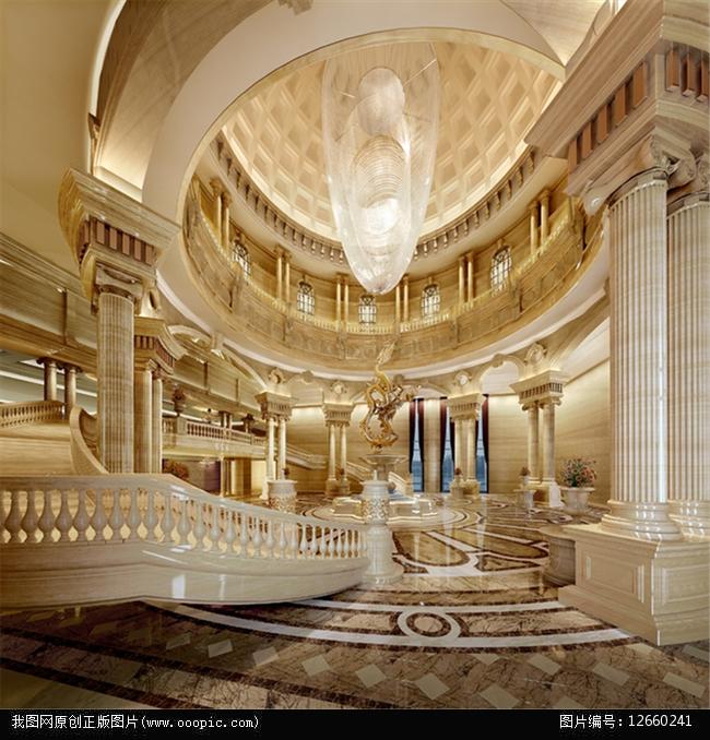 图片名称:豪华欧式会议中心大堂3d