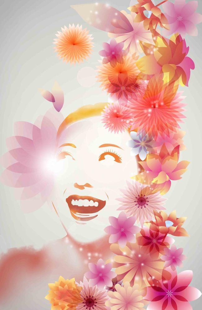 手绘花的女人