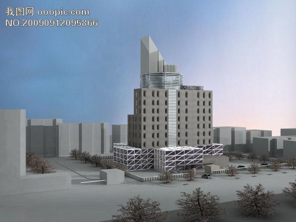 旅馆设计效果图02-建筑设计-其他